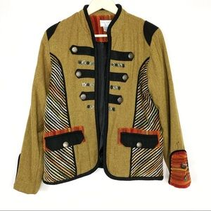 Bleu Bayou Military Blazer Jacket Coat Velvet